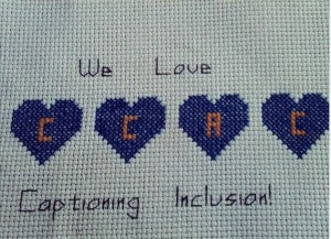 Cross Stitch Created by CCAC Member in appreciation for the CCAC