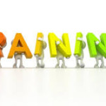 the word TRAINING in various colors