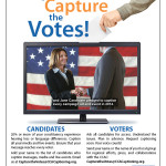 Captions Capture the Votes Flyer for wide distribution to all candidates and voters